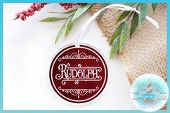 Reindeer Names Round Ceramic Ornament Christmas Bundle SVG Product Image 4