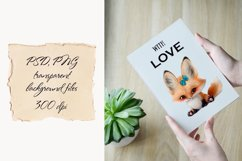 Baby fox clip art set, PNG, PSD Product Image 5