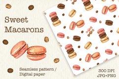 Sweet Macarons Seamless pattern/ digital paper, jpg, png Product Image 1