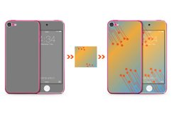 iPod Touch 6 Skin Design Template Back/front View Product Image 2