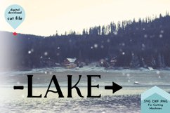 Lake with Arrow Sign, Beach House Decor SVG Product Image 3