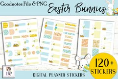 Easter Bunny Digital Printable Stickers Goodnotes PNG Product Image 2