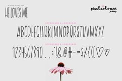 He Loves Me Skinny Font Product Image 5