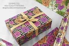 Halloween Flowers Seamless Patterns, Roses Digital Papers Product Image 9