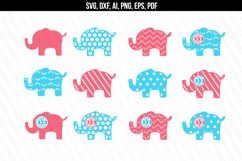 Elephant svg dxf cutting files Product Image 1