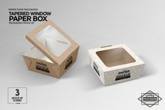 Paper Tapered Window Boxes Packaging Mockup Product Image 4