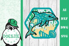 Dolphin SVG layered multi layer mandala sea animal nautical Product Image 2