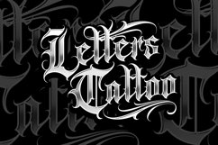 Gangsta Typeface   Tattoo Fonts Product Image 4