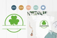 Shamrock SVG clovers silhouette cut file, St. Patrick's Day Product Image 1