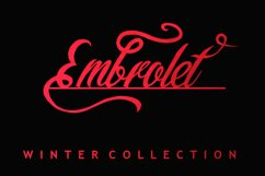 Embrolet Script Font Product Image 1