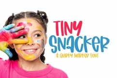 Web Font Tiny Snacker - A Quirky Marker Font Product Image 1