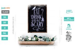 Eat Drink and Be Scary SVG Cut File Product Image 1
