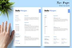 Simple Resume CV Template for Word & Pages Stella Morgan Product Image 3