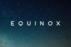 Equinox Typeface Product Image 1