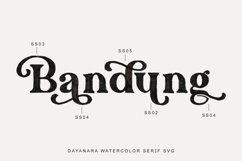 Dayanara - Watercolor SVG Product Image 5