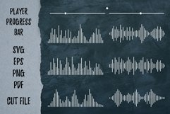 Player song covers, progress bar and button templates SVG Product Image 6