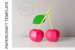 PDF TEMPLATE OF CHERRY FRUIT PAPERCRAFT /3D PAPERCRAFT SVG Product Image 3