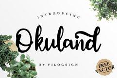 Okuland // Luxury Script Font Product Image 1