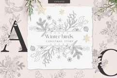 Winter birds. Christmas Story. Product Image 1