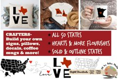 50 states bundle svg dxf United states svg silhouette cricut Product Image 2