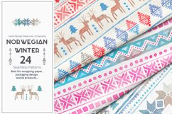 Norwegian Winter: Seamless Patterns Product Image 2