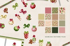 Children Christmas Clipart and Pattern seamless paper tiles. Product Image 3