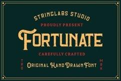 Fortunate - Original Hand Drawn Retro Font Product Image 1