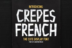 Crepes French - The Cute Display Font Product Image 1