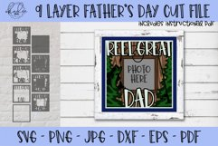 Father's Day SVG, Fishing SVG, 3D Shadowbox SVG, Dad SVG Product Image 1