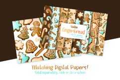 Gingerbread Watercolor Cliparts Product Image 2