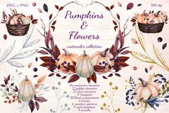 Pumpkins and Flowers Product Image 1