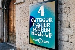 Outdoor Poster Screen Mock-Ups Product Image 1
