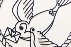 Swallow Paper Cut, Nautical SVG Product Image 6