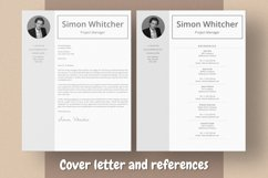 Project Manager Resume Template With Photo Product Image 4