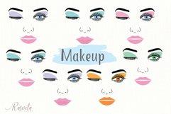 Make up svg Female Face Makeup Eyelashes Eyes Lips /3 Product Image 1