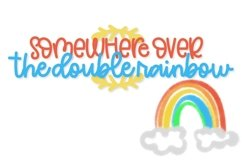 Web Font Double Rainbow - A Font Duo with Doodle Extras Product Image 3