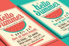 Hello Summer Party Flyer Template Product Image 2
