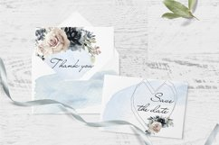 Watercolor Clipart Wedding Geometric frames Heart flowers Product Image 4
