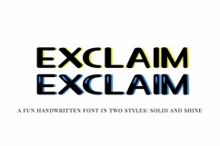 Web Font Exclaim - a fun unicase handwritten font | Two styl Product Image 1