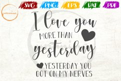 I Love You More Than Love Couple Anniversary Quote Art Product Image 1