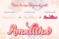 Amalitha - Layered Script Font Product Image 7