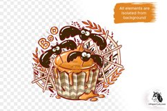 Halloween Cupcake PNG Sublimation PNG Halloween bats PNG Product Image 4