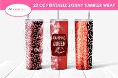 6 Camping Quotes 20 Oz. Skinny Tumbler Sublimation Bundle Product Image 6