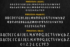 Pinsetter: three separate full alphabets