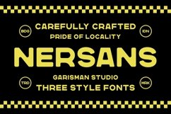 Nersans - Vintage Font with 3 Styles Product Image 1