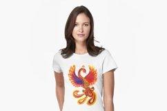 Art flaming mythical Phoenix bird Product Image 3