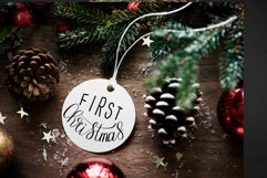 Hand lettered Christmas ornament designs Product Image 2