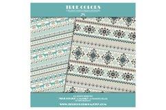 Nordic Basic Digital Paper Christmas Basic Digital Pack Blue Product Image 4