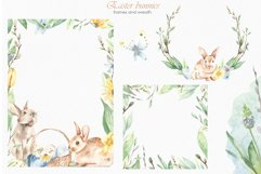 Easter bunnies watercolor Product Image 9