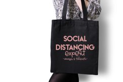 Social distancing expert - always and forever / Funny SVG Product Image 3